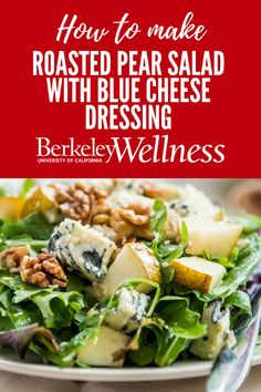 Need a #fancy #salad #recipe? Look no further. This roasted pear and pecan salad with creamy blue cheese dressing is bursting with color, flavor, and texture. http://www.berkeleywellness.com/healthy-eating/recipes/article/roasted-pear-salad-blue-cheese-dressing/?ap=2012 @skinnytaste