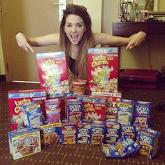 hahaha, she got a few too many lucky charms and pop tarts in florida