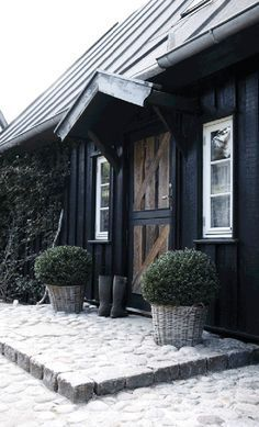 I would buy this modern rustic Danish cottage just for the fabulous kitchen without even looking around the rest of the house.