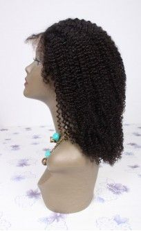 Gorgeous Kinky Curly Custom Full Lace Human Hair Wig with Baby Hair - Curly - EvaWigs