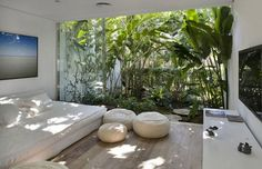 Iporanga House by Isay Weinfeld HomeDSGN, a daily source for inspiration and fresh ideas on interior design and home decoration. Patio Interior, Interior And Exterior, Interior Design, Room Interior, Interior Ideas, Outdoor Spaces, Outdoor Living, Outdoor Bedroom, Garden Bedroom