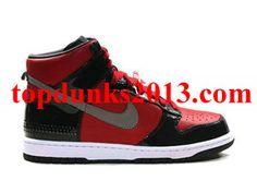 Suitable DJ AM Red Black Premium High Top Nike Dunk