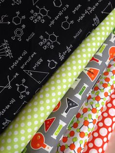 Science Fair Fabric bundle by Illustration Ink for Robert Kaufman Fabrics- Fat Quarter Bundle, 5 total on Etsy, $15.00