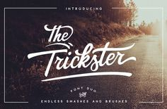 Nice The Trickster - font DUO + extras by BlackCatsMedia on Creative Market...