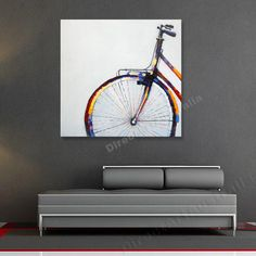 Front side of cycle - Direct Art Australia, Price: $149.00,  Availability: Delivery 10 - 14 days,  Shipping: Free Shipping,   Minimum Size: 50 x 60cm,  Maximum Size: 90 x 120cm,  We are Australia's oldest and most trusted supplier of professionally painted oil artwork on canvas.  http://www.directartaustralia.com.au/