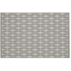 Crate & Barrel Aldo Dove Grey Indoor-Outdoor 4'x6' Rug (4,580 INR) ❤ liked on Polyvore featuring home, rugs, grey brown rug, graphic rugs, crate and barrel rugs, patterned rugs and concrete floor covering