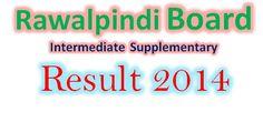 Rawalpindi board Inter supply result 2014