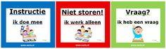 Zelfstandig werken   www.nazia.nl – De klas enzo… Co Teaching, Flipped Classroom, Spelling, Family Guy, Education, Kids, September, Model, Organization