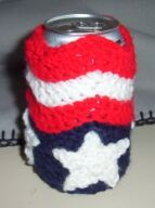 Crochet Can Cozy ~ so cute for the picnic!