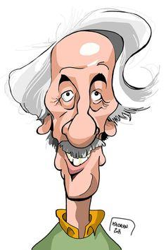Jean Rochefort - Kadran, caricature, illustration, cartoon, press, cartoons, caricatures, dessin de presse
