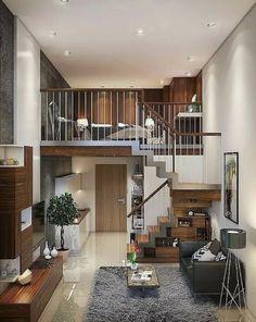41 new stylish loft apartment decorating ideas page 14 Loft Apartment Decorating, Apartment Design, Apartment Ideas, Apartment Living, Apartment Layout, Living Rooms, Duplex Apartment, Apartment Therapy, Loft Design