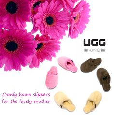 Mother`s Day Gift Idea: Comfy home slippers for the lovely mother ! Classic Ugg Boots, Ugg Classic, Uggs, Slippers, Comfy, Gifts, Presents, Slipper, Favors