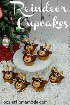 Reindeer Cupcakes- 100 Days of Homemade Holiday Inspiration | Hoosier Homemade | Bloglovin'