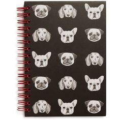 Tricoastal Dog Print Spiral Notebook - Compare at $10 (13 BRL) ❤ liked on Polyvore featuring home, home decor, stationery, filler and multi