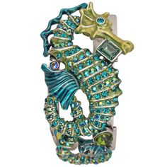 Rip Tide's Ride Seahorse Cuff Bracelet (Antique Silvertone): Kirks Folly Online Web Store