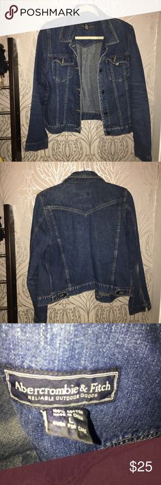 """Vintage Abercrombie and Fitch Denim Jacket Vintage A&F Denim Jacket. Excellent condition. Measures roughly 19.5"""" armpit to armpit, 22"""" shoulder to hem. Please ask all questions before offer or purchase. Price negotiations via offer button only. Abercrombie & Fitch Jackets & Coats Jean Jackets"""