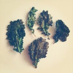 kale chips - baked in your oven, just use a little bit of olive oil, salt, cayenne.  Instagram photo by Gabe.