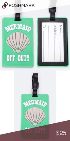 Mermaid off duty luggage tag Mermaid off duty luggage tag Other