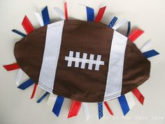 Football Blanket with Red White Blue Ribbon by LifeInTheSassLane