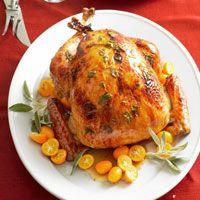 Apple Brandy- and Sage-Glazed Turkey   Recipe