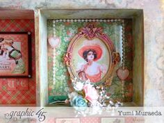 45 Time to Celebrate Shabby Chic Shadowbox by Yumi Graphic 45, Time To Celebrate, Out Of This World, Wonderful Things, Shadow Box, Pop Up, Shabby Chic, Frames, Journal