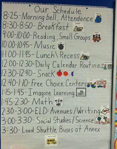 kindergarten homeschooling schedule