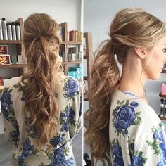 long+curly+pony+with+a+bouffant+and+braid