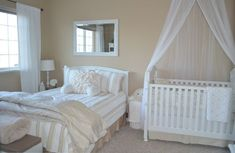 crib in parents room im absolutely in love with this design plus i want my little one near me.