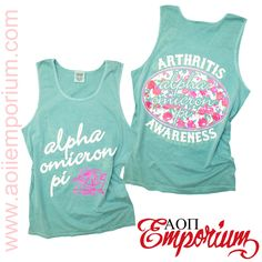 Alpha Omicron Pi AOII Arthritis Awareness custom chapter order on Comfort Color Tanks!!