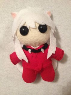 Inuyasha Handmade Plush by LeslysPlushes on Etsy