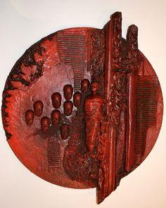 Powertex make coming to Hochanda in June! Clay Wall Art, Mosaic Wall Art, Abstract Wall Art, Abstract Sculpture, Wood Sculpture, Mirror Crafts, African Crafts, Sculptures Céramiques, Copper Art