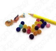 perle pelose in acrilico vellutate 8 mm colori misti, in vendita nel sito www.gugapluff.it