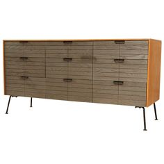 chest of drawers designed by Raymond Loewy manufactured by Menge Chest Of Drawers Design, Drawer Design, Vintage Furniture, Modern Furniture, Furniture Design, Furniture Storage, Alpine Furniture, Raymond Loewy, Mid Century Bedroom