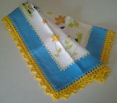 Conjunto de avental c/ pano de cozinha das Lãs&Linhas da Ana