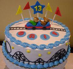 Rollercoaster Cake Topper
