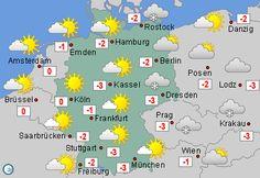 Wetterkarte Deutschland am 18.1.16