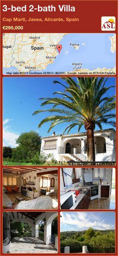 3-bed 2-bath Villa in Cap Marti, Javea, Alicante, Spain ►€295,000 #PropertyForSaleInSpain