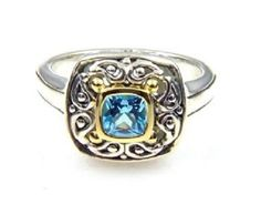 18K Sterling Silver Blue Topaz Ring. Get the lowest price on 18K Sterling Silver Blue Topaz Ring and other fabulous designer clothing and accessories! Shop Tradesy now