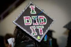 graduation cap decoration ideas | May Bucket List for High School Seniors | The WiseChoice Blog
