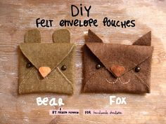 DIY Tutorial Cute Animal Felt Pouches In 3 Minutes #misakomimoko for #handmadecharlotte