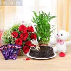 Perfect Jumbo Collection Who loves nature surprise them with these beautiful collection below products. This Product Contains : Half Kg Chocolate Cake Ten Red Roses Teddy Five Dairy Milk Chocolates ( 10 Rs each ) Two Layer Bamboo Plant Cute Mothers Day Gifts, Best Gifts For Mom, Mother Gifts, Online Flower Delivery, Fresh Flower Delivery, Send Birthday Gifts, Send Gifts, Diwali Gifts, Online Gifts