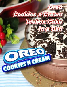 Try this Oreo Cookies and Cream Icebox Cake in a Can Recipe. Cookies and cream never tasted so good. A perfect summer dessert. Pinoy Dessert, Filipino Desserts, Filipino Recipes, Filipino Food, Easy Summer Desserts, Summer Dessert Recipes, Famous Chocolate, Chocolate Cake Mixes, Cake In A Can