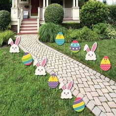 Easter Garden Stake Path Way Yard Signs Lawn Decorations Spring Bunny 3 Pc  Set | Lawn Decorations, Easter Garden And Garden Stakes