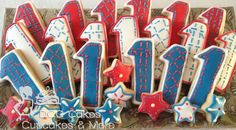 Im gonna make these with First birthday Cookies -n-fourth of July First Birthday Cookies, Twin First Birthday, July Birthday, 4th Birthday Parties, 1st Birthdays, Birthday Ideas, 4th Of July Party, Fourth Of July, Birthday Pictures