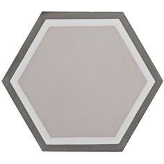 Merola Tile Cemento Hex Holland Channel 7-7/8 in. x 9 in. Cement Handmade Floor and Wall Tile, Multicolored Grey And White/Low Sheen