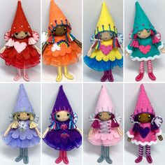 Little handmade bendy fairies