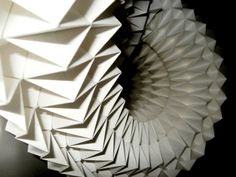 Origami tessellation  Designed and folded by: Vlatka Fric #origami #paper #art #design #white #parametric