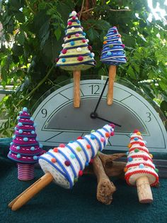 felt trees with clothes pins