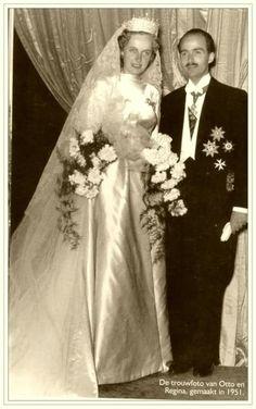 May 10, 1951, Otto of Habsbourg & Princess Regina of Saxe-Meiningen.