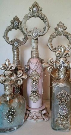Decorative Bottles :     Michelle Butler Designs    -Read More –